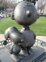 Snoopy and Charlie Brown Statue